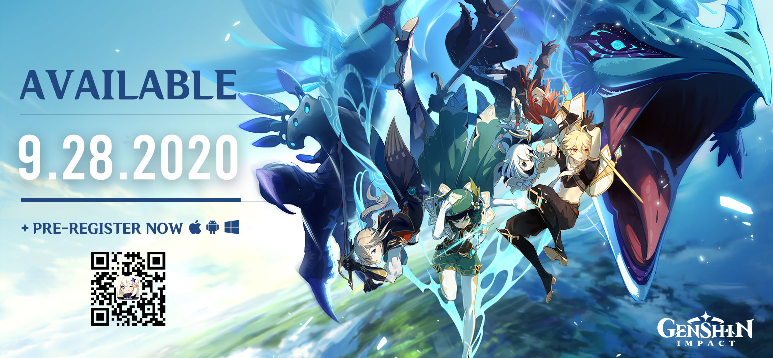 Genshin Impact releases September 28th for Mobile, PC